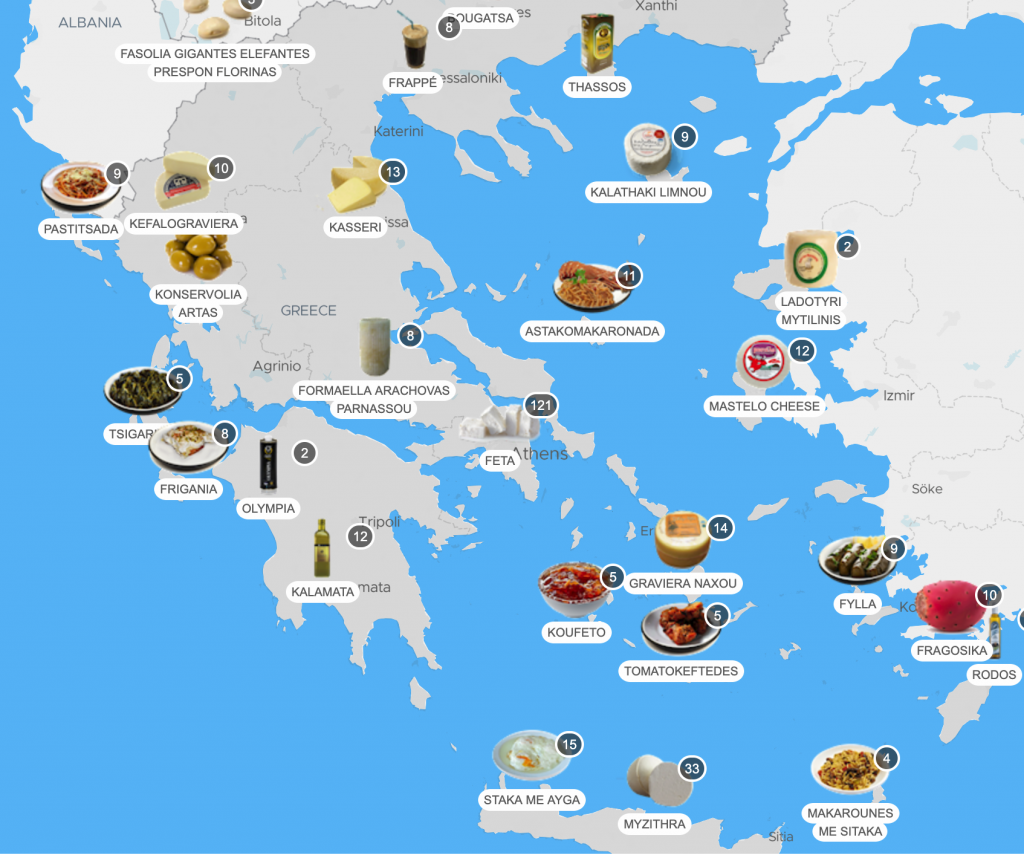 greece food map