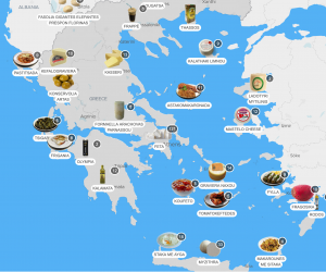 greece food map